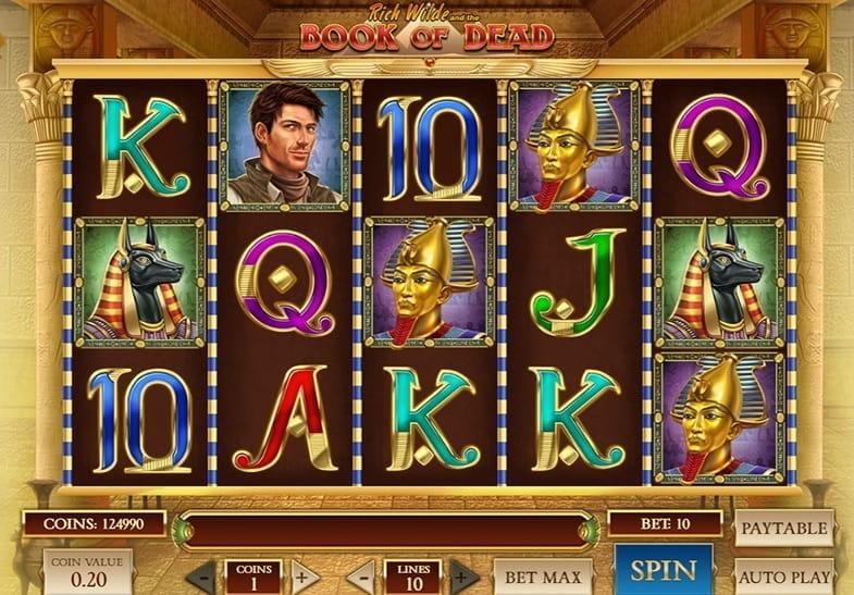 Slot Book of Dead de Play N´ Go con temática egipcia