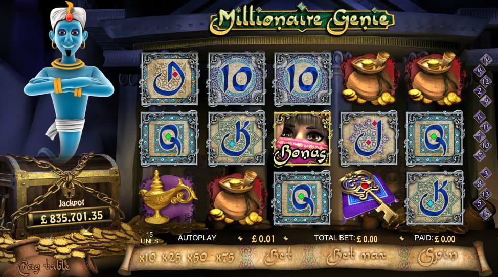 888 Casino Millionaire Genie