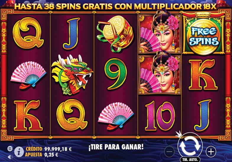 Captura de pantalla del juego de slot Peking Luck