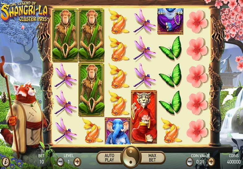 Captura de pantalla de la slot The Legend of Shangri-la Cluster Pays