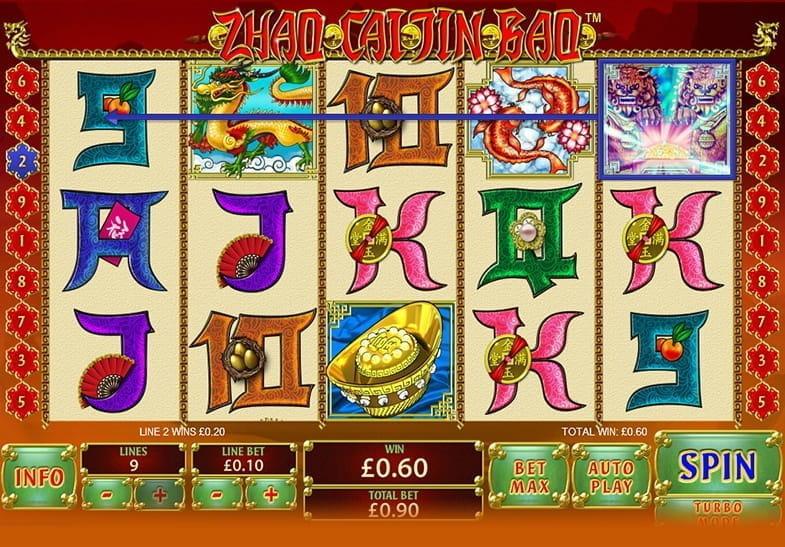 Captura de pantalla de un premio ganado en la slot Zhao Cai Jin Bao