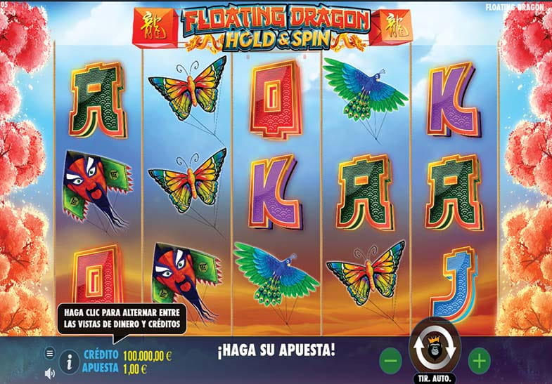 Pantalla de inicio del juego de slot Floating Dragon Hold and Spin