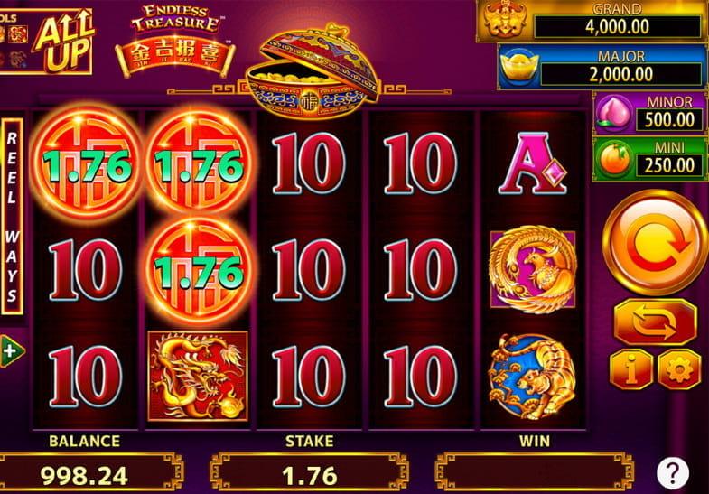 Captura de pantalla de la slot Jin Ji Bao Xi Endless Treasure