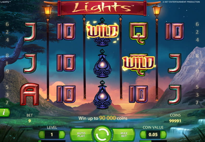 Captura de pantalla del juego de la slot Lights