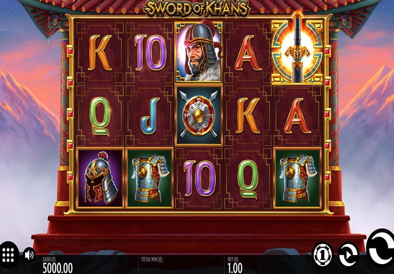 Captura de pantalla de la slot Sword of Khans