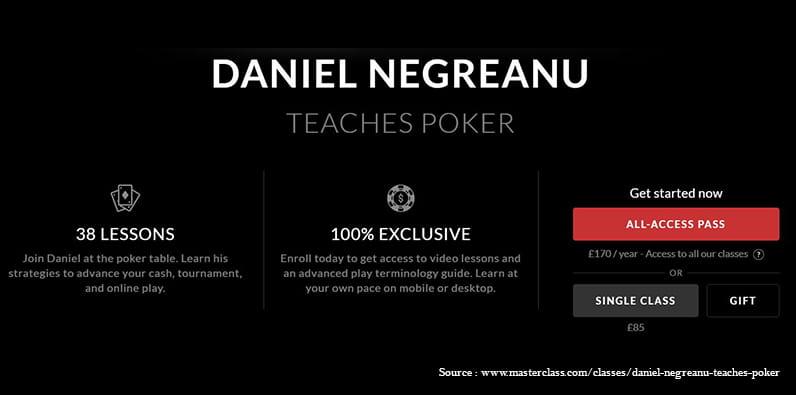 Kelas master Daniel Negreanu bisa menjadi hadiah yang luar biasa