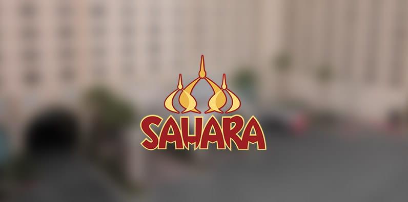 Logo hotel dan kasino Sahara di Las Vegas