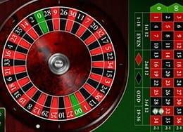 Rueda de ruleta americana online y tapete con los números